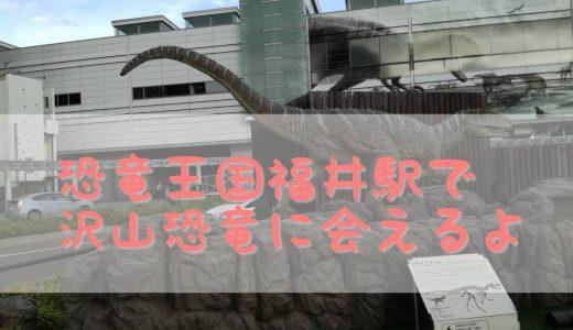 福井駅から徒歩1分で、恐竜空間を楽しめるスポット。